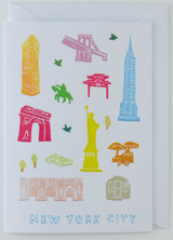 New York City Papercuts - Greeting Card