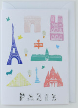 Paris Papercuts - Greeting Card