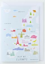 Map of Europe - Greeting Card