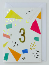 3 years old - Birthday Card