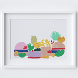 Abstract Summer Plants Print framed print