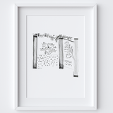 Botanical Pillar Drawing Framed Print