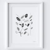 Flowing with Nature Framed Drawing Print