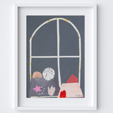 Geometric Still Life Painted Framed Print