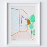 Leading Doorway Framed Print