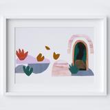 Minimal Desert Landscape Framed Print