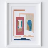 Sliding Doors Gouache Framed Print