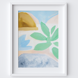 Succulent Leaves Framed Print