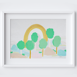Trees to Trees Framed Print