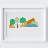 Wilderness Lake View Framed Print