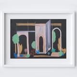 Wintery Archway Garden Framed Print