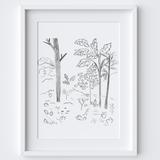 Woodland Hill Framed Print