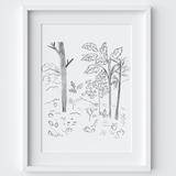 Woodland Hill Framed Print