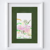 Through the Green Window Art Framed Print created from an original painting