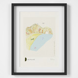 Durdle Door, Dorset Scene Art Print created from an original painting framed