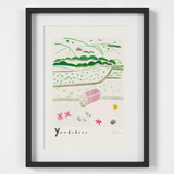 Yorkshire Countryside Scene Art Print created from an original painting framed
