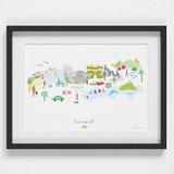 Cornwall County Skyline Landscape Art Framed Print by artist Holly Francesca