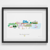 Northumberland County Skyline Landscape Art Framed Print by artist Holly Francesca