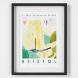 Clifton Suspension Bridge, Bristol Art Print created from an original painting framed
