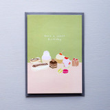 French Patisserie Happy Sweet Birthday Card