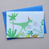Rocking Birthday Dinosaur Card