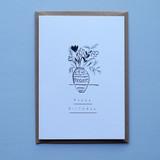 Happy Birthday Vase Card