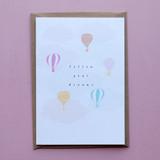 Follow Your Dreams Hot Air Balloon Card