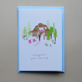 Barn Wedding Day Scene Card