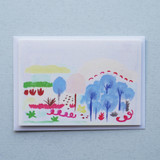 Woodland Scene Abstract Painting Card