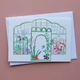 Glasshouse Emerald Green Botanical Card