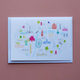 Map of London Card