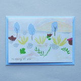 Thinking of You Mountains Card