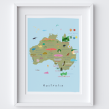 Map of Australia Art Print by artist Holly Francesca