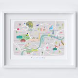 Personalised Illustrated London Map Art Print