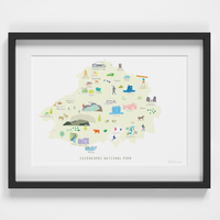 Map of the Cairngorms National Park Art Print
