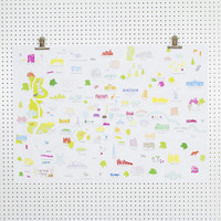Map of Greater London Art Print ( A2 & A1 size only)