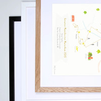 Greater Manchester full marathon framed print.