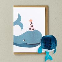Paper Balloon Card - Whale