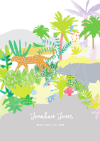 Personalised Jungle Animals Birth Art Print