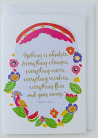 Frida Kahlo Artist's Quote - Greeting Card