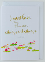 Claude Monet Artist's Quote - Greeting Card