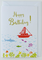 Sailing Boat - Birthday Card