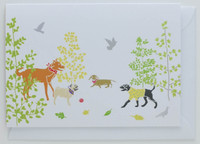 Dogs in the Park - Greeting Card
