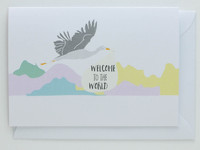Welcome to the World Stork - New Born Card
