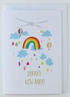 Hooray New Baby - New Born Card