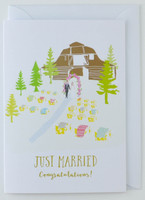 Congratulations Just Married - Wedding Card