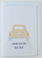 Congratulations Just Married - Wedding Car Card