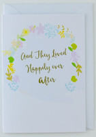 And they lived happily ever after - Wedding Card