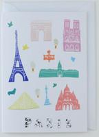 Paris Papercuts - Greeting Card