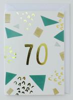 70 years old - Birthday Card